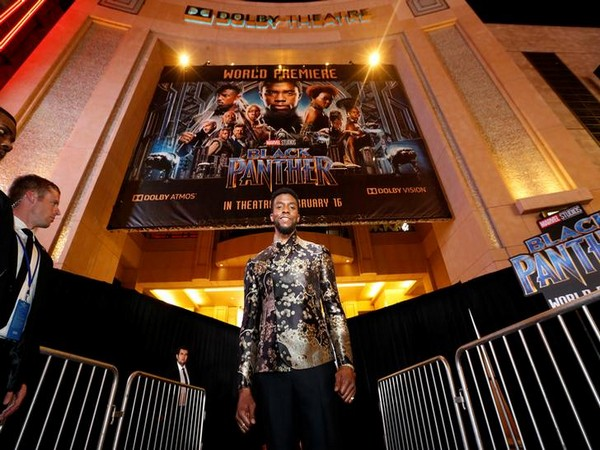 Cast member Boseman poses at the premiere of