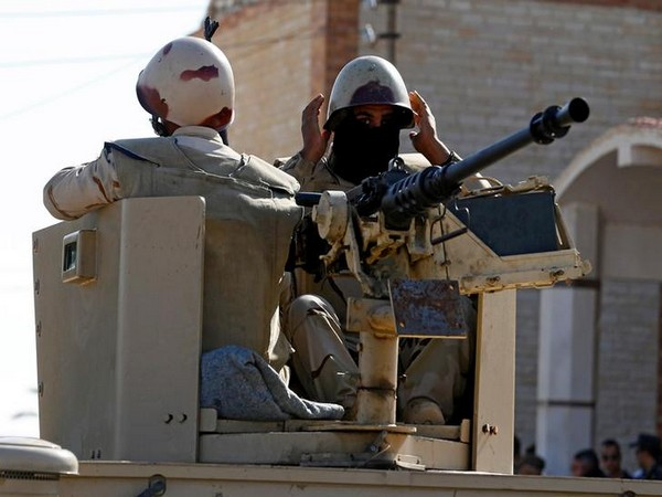 Military forces are seen in North Sinai